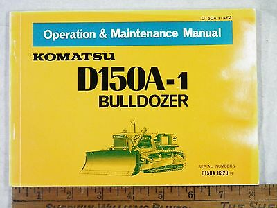 Komatsu D150a-1 Operation Maintenance Manual 8329-