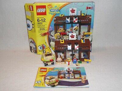 LEGO Set 3833 Krusty Krab Adventures SpongeBob Complete Instructions FREE Ship!