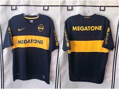 Boca Juniors 2008/09 Home Soccer Jersey Medium Nike 09 Home Jersey