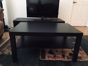 Ikea Lack TV Bench and coffee table