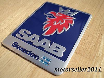 Aluminium Sweden Logo Rear Trunk Decal Badge Sticker Emblem G123