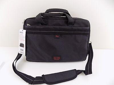 SOLO $95 Black Briefcase/Attache MEN 100% AUTH BAG Internal