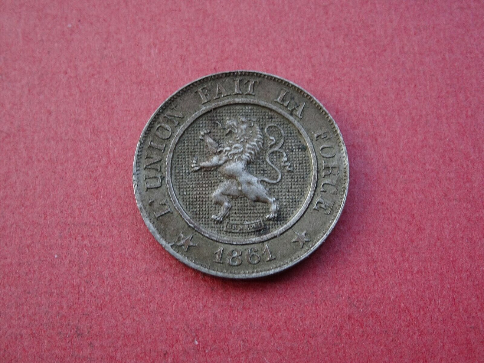1861 10 Centimes Belgique Belgïe Léopold II