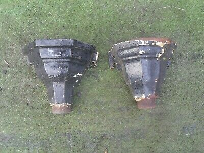 Pair of Antique / Vintage Cast Iron Drain Hoppers ref2