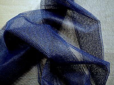 5 Yds-Wonderful NAVY BLUE HEXAGON TULLE Netting NET Fabric-53