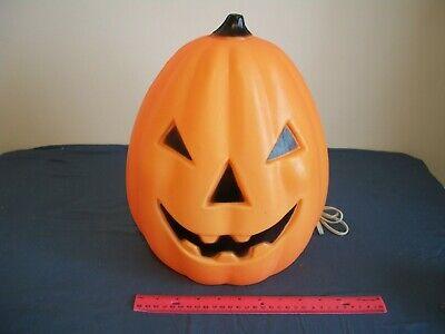 14' Halloween Pumpkin Jack-o-Lantern lighted TPI 1991 Blow Mold. Works