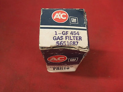 NOS AC IN LINE FUEL FILTER GF 454  1965 BUICK GAS  5651687 CHEVY OLDS PONTIAC