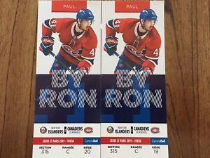 Billets Canadiens de Montréal