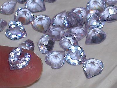 5pc Vintage Color changing crystal SWAROVSKI Heart unfoiled no hole 8mm