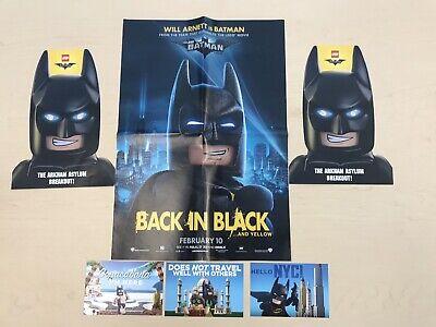 "The LEGO Batman Movie Post Cards and Will Arnett is Batman poster 16"" x 20"" TRU"