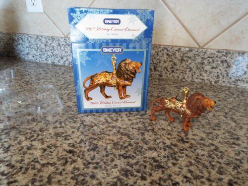 Breyer 2002 Holiday Carousel Ornament-porcelain Lion  NIB -3rd in series