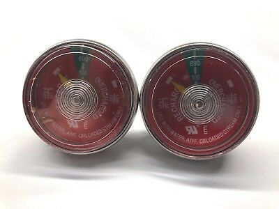 2 Lot New 100 Psi Gauge Replacement Water Pressure H2o Fire Extinguisher
