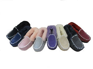 Australian-Sheepskin-Moccasins-Ladys-8-Mens-7-Multi-Colours