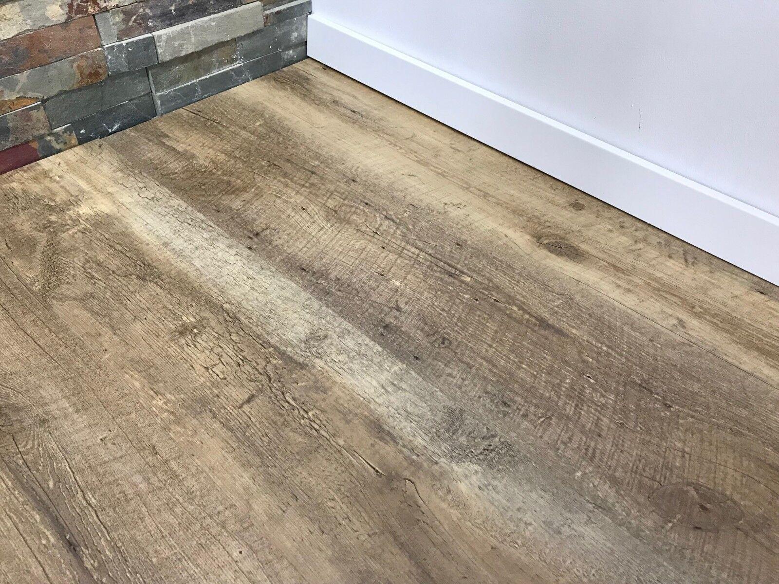 für nur 16,99 €//m² Click Vinylboden Canyon Pine grau Landhausdiele NK 31