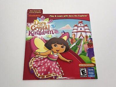 Nickelodeon Dora Saves The Crystal Kingdom Pre-School Play Learn CD-ROM - Preschool Learning Games New Cd