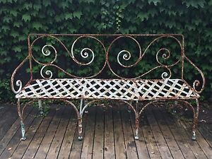 Metal garden bench Northbridge Willoughby Area Preview