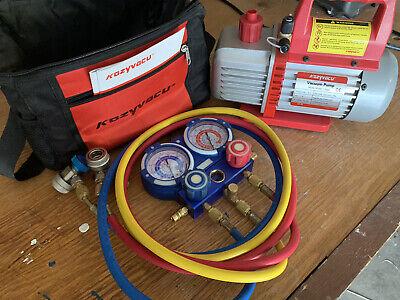AC Vacuum Pump Kit & Manifold Kit
