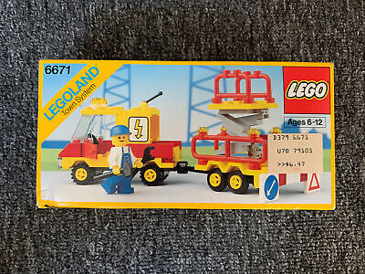LEGO 6671 Utility Repair Lift Town Work Truck Set New 1989