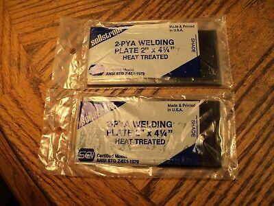 Vintage Pair Sellstrom Welding Plate Lenses 4-14 X 2 Shade 5 Nos