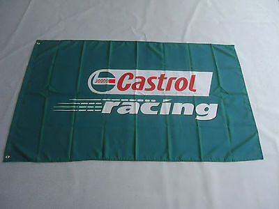 car racing flag banner flags green 3x5FT free shipping for Castrol Racing Flag