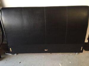 Black 'leather' queen size frame Camden Camden Area Preview