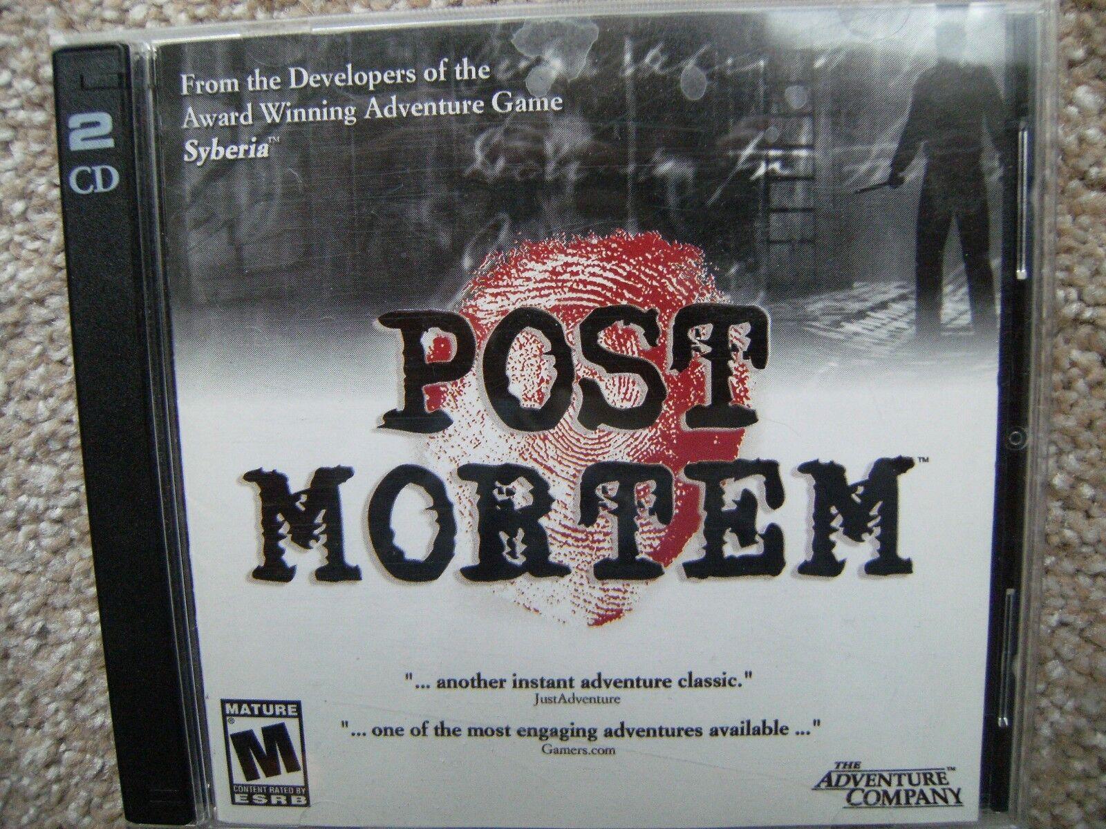 Computer Games - Post Mortem PC Computer Game 2003 Windows  2 Discs + Manual in Jewel Case
