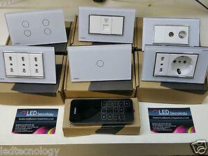 Interruttori luci placche touch vetro moderno livolo for Interruttori touch