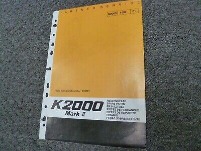 Partner K2000 Mark Ii Electric Cut-off Concrete Street Saw Parts Catalog Manual