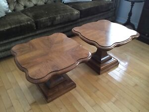 Clover leaf coffee or end tables (set of 2)
