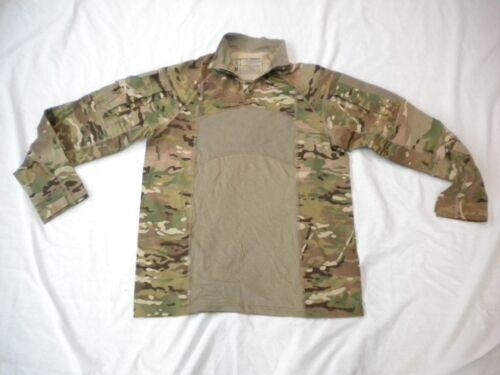 US ARMY MULTICAM ARMY COMBAT SHIRT TYPE II 1/4 ZIPPERED COMBAT SHIRT SZ LARGE
