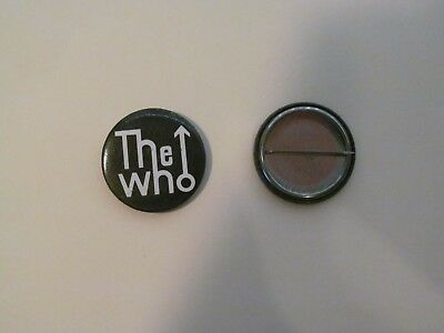 THE WHO CLASSIC BLACK PIN BUTTON