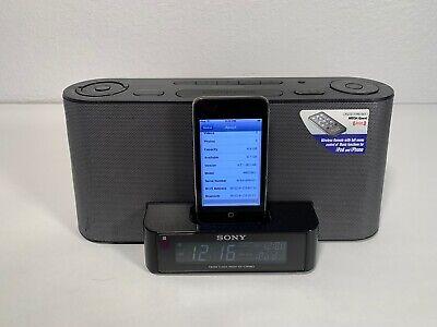 Sony Clock Radio Dream Machine Speaker iPod Dock With Apple Itouch Gen 2 8GB