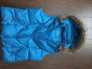 Women's fleece down vests X 3