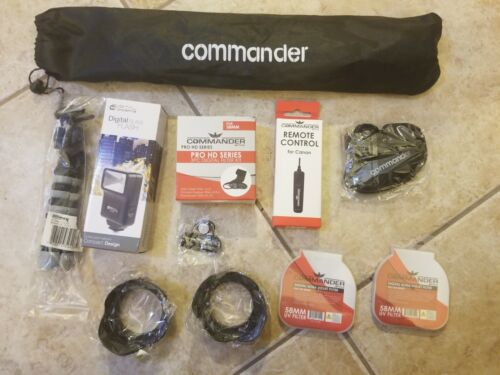 """Accessories Bundle For Canon Rebel T7 8"""" Gripster Remote Control Flash Lens Hood"""