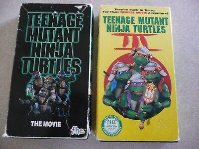 TMNT Teenage Mutant Ninja Turtles VHS TAPE LOT The Movie 1 & 3   Great for kids!](Ninja Turtle Movie For Kids)
