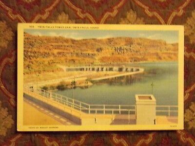 Vintage Postcard Twin Falls Power Dam  Twin Falls  Idaho