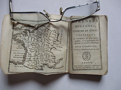 French Almanac 1793 With Maps And News
