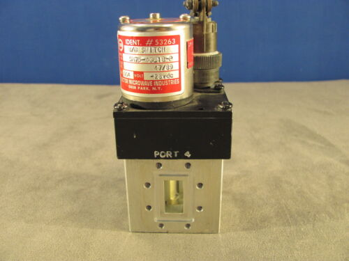 Waveguide Switch SM75-4GL1 K-Band 4 port RF Transfer Manual/Electric -28vdc<196>