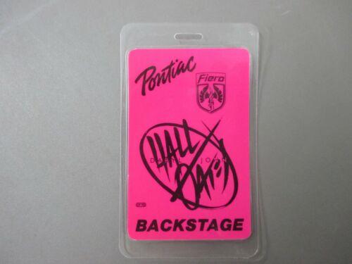 Hall & Oates laminated backstage pass Pontiac Fiero  !
