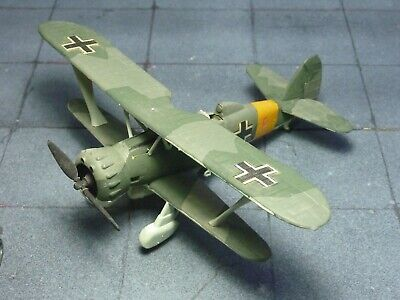 Henschel Hs123 Luftwaffe 1/72 kit built & finished for display