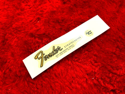 Fender Stratocaster 1965 4 patent number style decal Silkscreened type