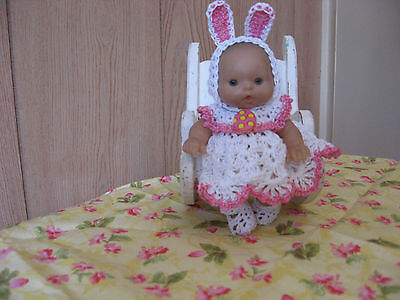 "BUNNY DRESS SET FOR 5"" TO 6"" OOAK/REBORN BERENGUER DOLL"