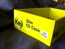 KEJI Slim CD Case EMPTY BOXES 50 Pack. Just The Boxes. North Parramatta Parramatta Area Preview