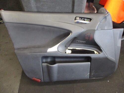 LEXUS IS XE20 (MK2) 2008 NSF PASSENGER SIDE FRONT DOOR CARD PLASTIC HANDLE PANEL