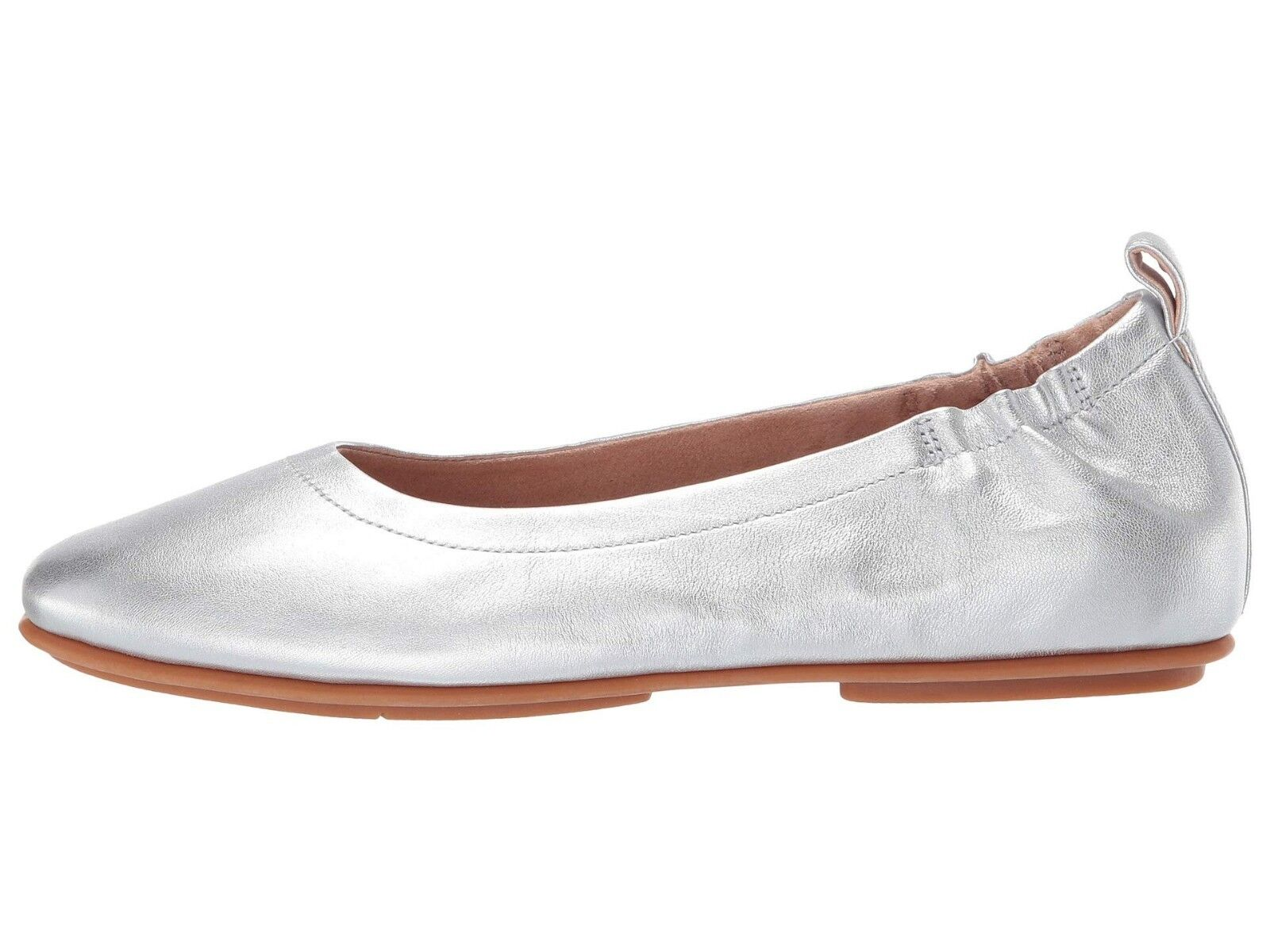 Women's Shoes Fitflop ALLEGRO Closed Toe Leather Ballet Flats Q74-011 SILVER 1