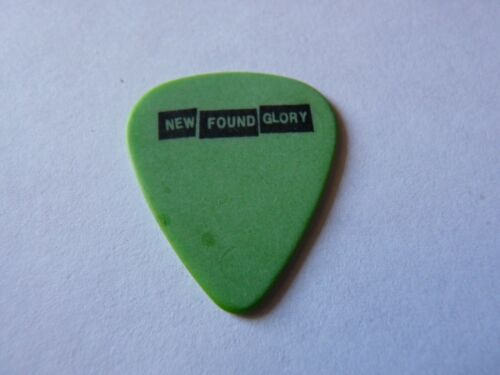 New Found Glory Black on Green Vintage 2003 Concert Tour Issued Guitar Pick
