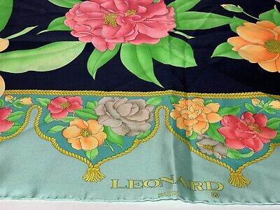 Vintage Scarf Styles -1920s to 1960s vintage leonard paris Scarf $40.00 AT vintagedancer.com