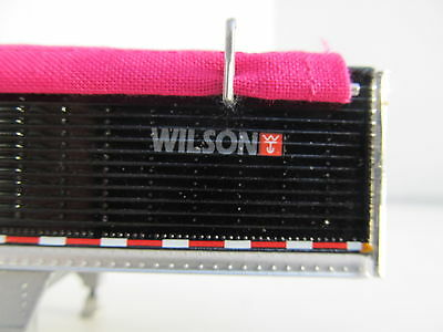 DCP 1/64 SCALE WILSON GRAIN TRAILER BLACK WITH PINK TARP AND SILVER HOPPERS 4
