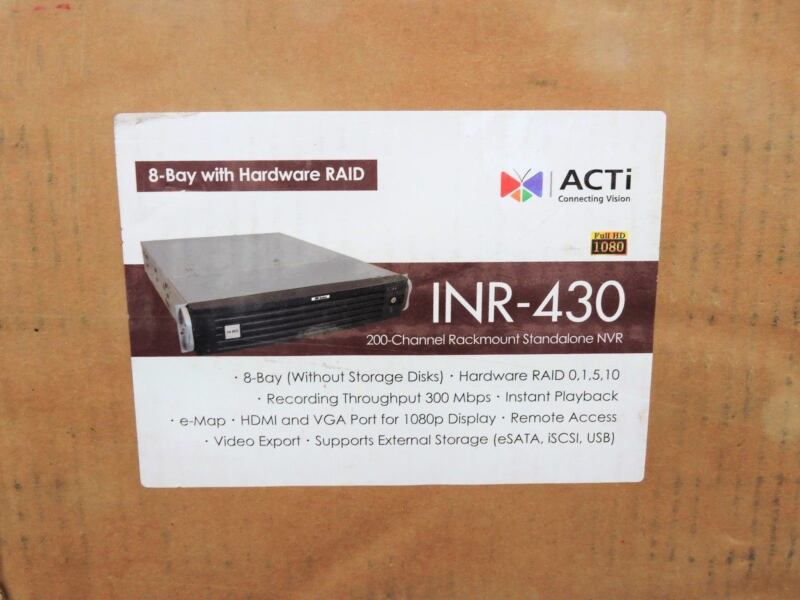 Acti Corporation Inr-430 Standalone Dvr 200-channel 8-bay Raid Rackmount Nvr New