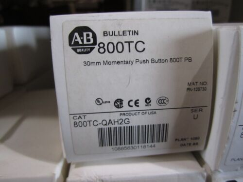 NEW ALLEN BRADLEY 800TC-QAH2G PUSH BUTTON
